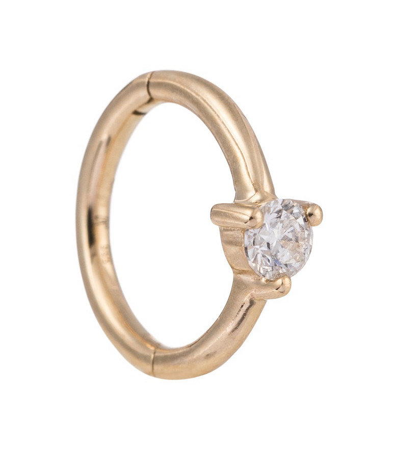 Jacquie Aiche 14kt gold single earring with diamonds