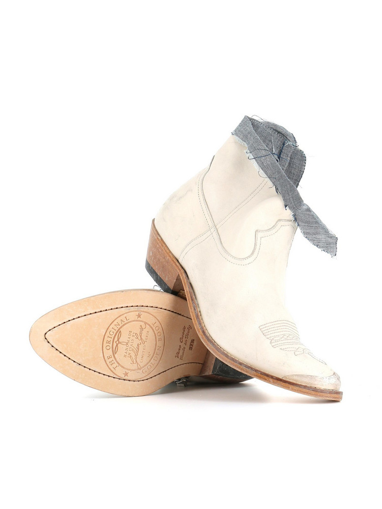 Golden Goose Texan Boots in white