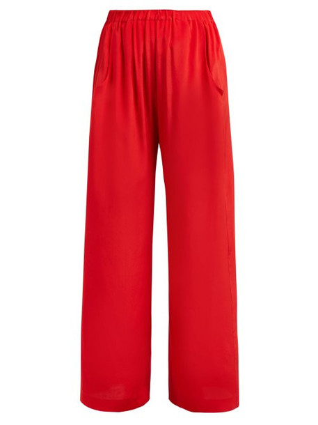 Worme - The Standard Silk Trousers - Womens - Red