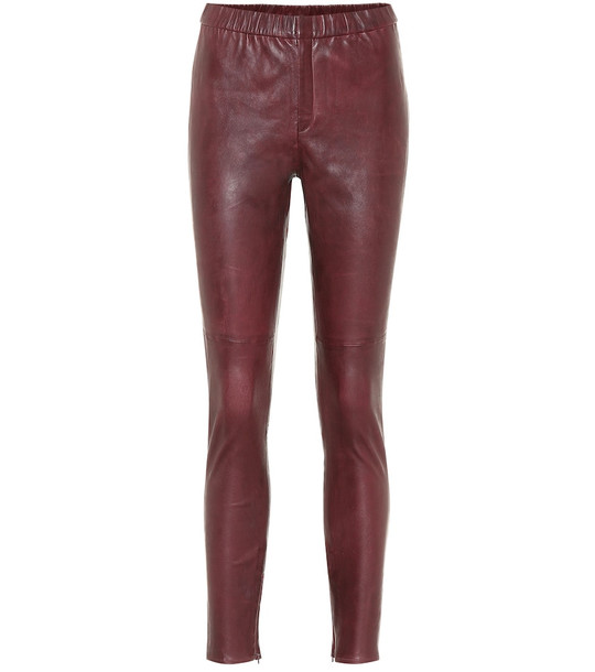 Isabel Marant, Étoile Iany skinny leather pants in red