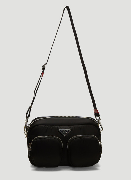 Prada Padded Nylon Shoulder Bag in Black size One Size