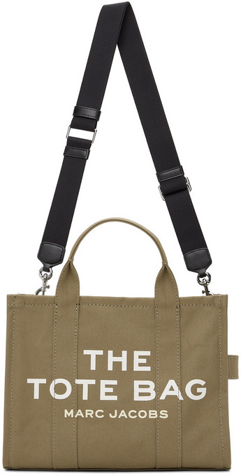 Marc Jacobs Khaki 'The Small Traveler' Tote in green