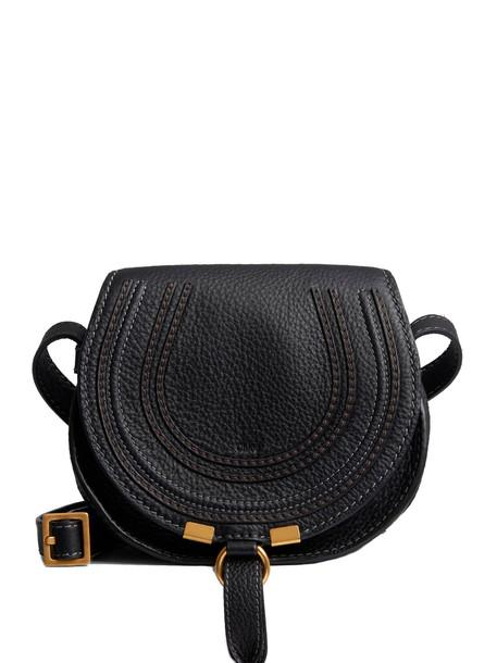Chloé Circular Bag With Strap And Pendant Closure/chiusura Pendente in black