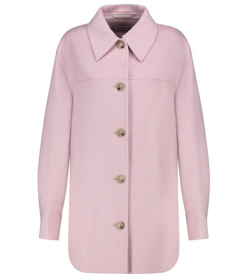 Acne Studios Wool shirt jacket in purple