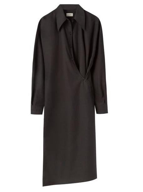 Lemaire - Poplin Midi Wrap Dress - Womens - Black