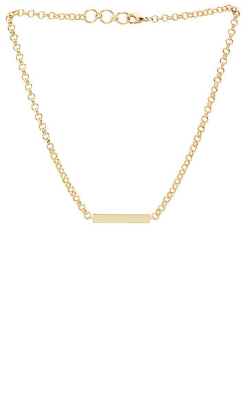 gorjana Lou Tag Necklace in Metallic Gold