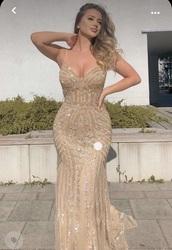 dress,bodycon dress,gold dress,sheer,sheer dress white