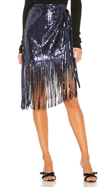 House of Harlow 1960 x REVOLVE Camelia Skirt in Navy