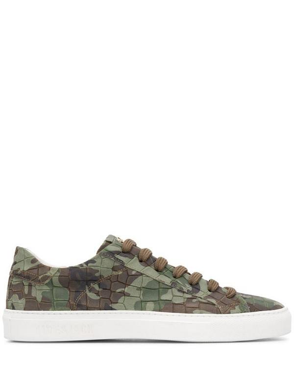 Hide&Jack camouflage low-top sneakers in green
