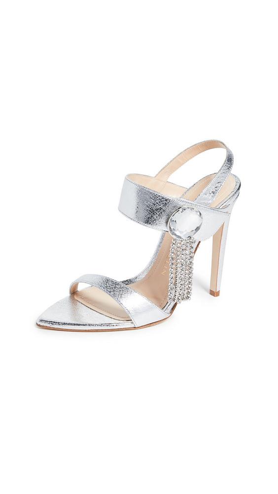 Chloe Gosselin 110mm Tori Sandals in silver