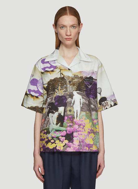 Prada Floral Print Shirt in Purple size IT - 38
