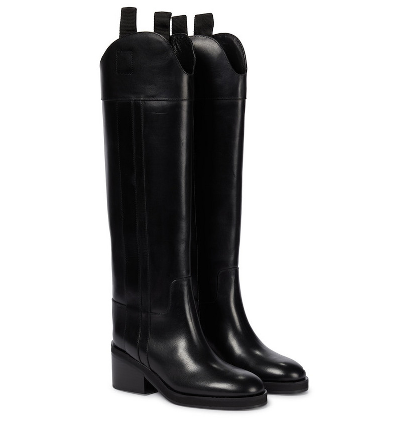 Jimmy Choo Tonya 70 leather knee-high boots in black