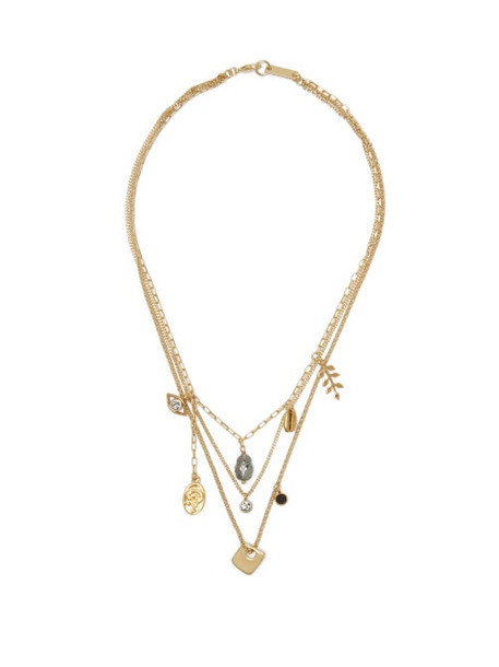 Isabel Marant - Vedette Charm Necklace - Womens - Gold