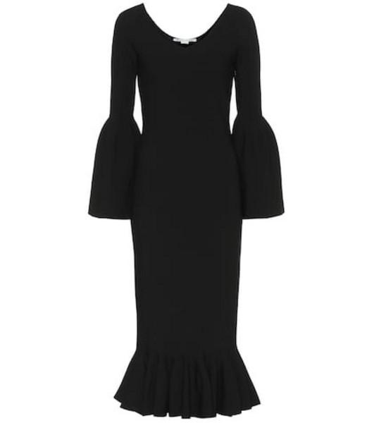 6dfc7e42383c Stella McCartney Ribbed-knit midi dress in black