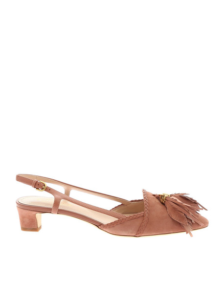 Tod's Leaf Charm Pumps in pink