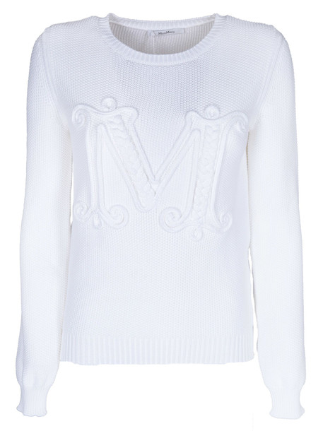 Max Mara Logo Embroidered Sweater