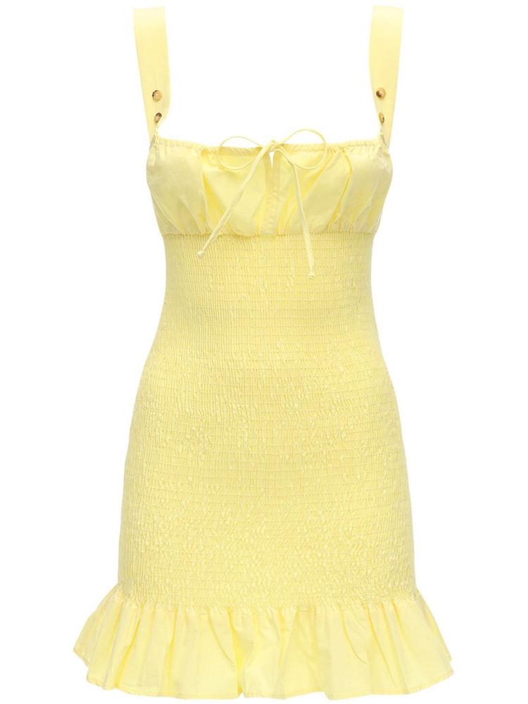 CIAO LUCIA Cara Cotton Poplin Mini Dress in yellow