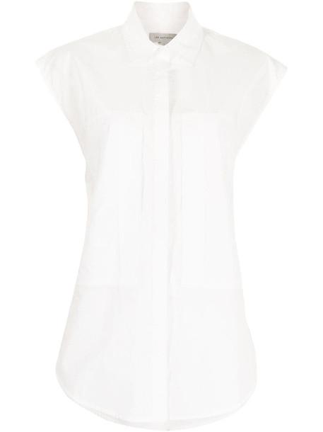 Lee Mathews Maleo sleeveless shirt in white