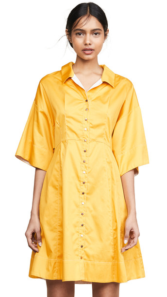 See by Chloe Shirtdress in yellow