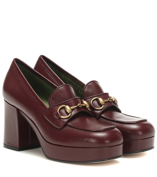 Gucci Leather pumps in red
