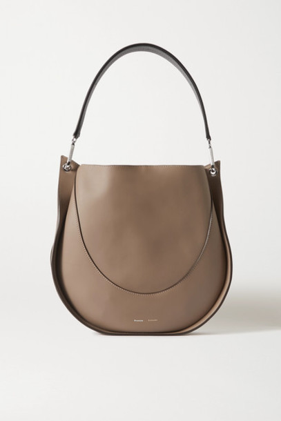 Proenza Schouler - Large Two-tone Leather Tote - Gray