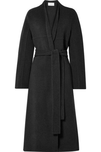 The Row - Luisa Belted Wool-blend Coat - Black