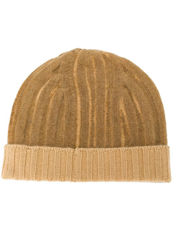 Warm-Me Joseph two-tone cashmere beanie in brown