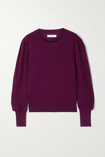 Isabel Marant Étoile - Camelia Cotton And Wool-blend Sweater - Burgundy