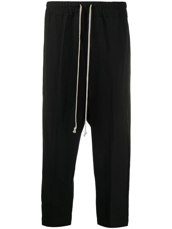 Rick Owens drawstring cropped trousers in black