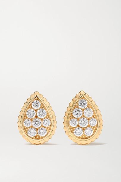 Boucheron - Serpent Bohème 18-karat Gold Diamond Earrings