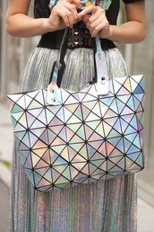 skirt,holo,holographic,iridescent,sparkle,glitter,sequins,maxi skirt,tumblr girl