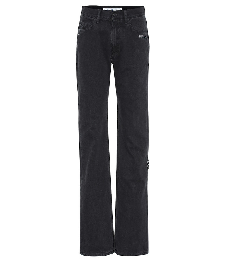 Off-White Mid-rise flared jeans in black