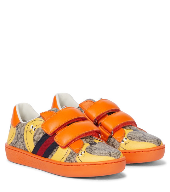 Gucci Kids Baby Ace GG sneakers in orange