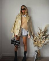 shorts,jacket,sweater