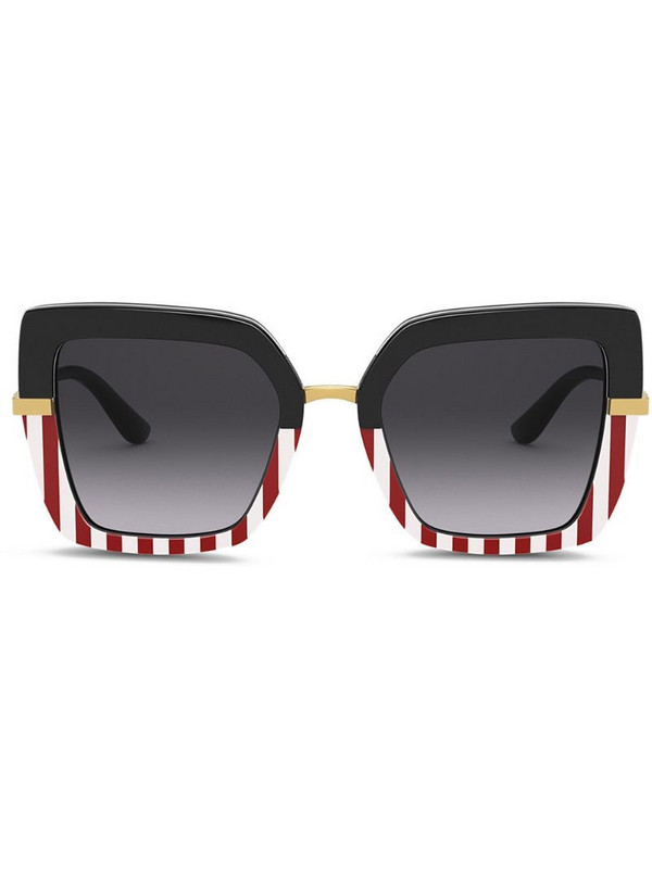 Dolce & Gabbana Eyewear Half print sunglasses in black