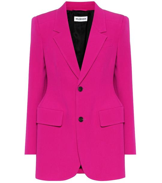 Balenciaga Hourglass stretch-wool blazer in pink