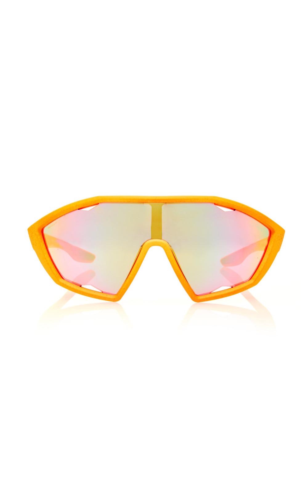 Prada Linea Rossa Square-Frame Acetate Sunglasses in orange