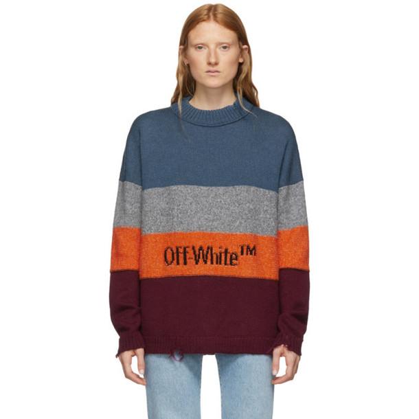 Off-White Orange and Black Logo Sweater