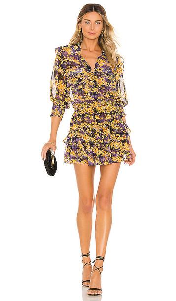 MISA Los Angeles Riona Dress in Yellow
