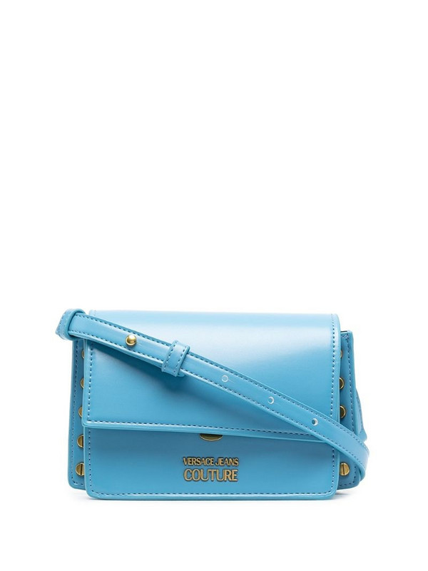 Versace Jeans Couture logo-charm cross-body bag in blue