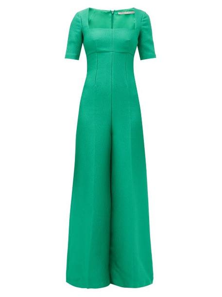 Emilia Wickstead - Audie Crepe Jumpsuit - Womens - Green
