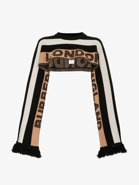 Burberry Brown neck hole football scarf
