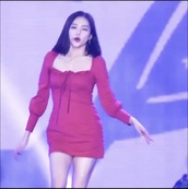 dress,red dress,celebrity,long sleeves,mini dress,ribbon