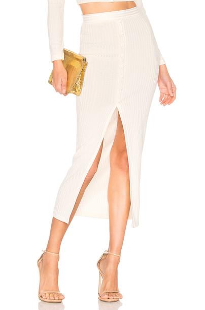 fleur du mal Maxi Slit Skirt in ivory