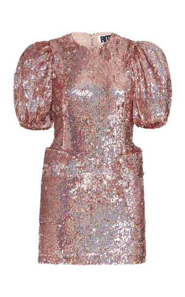 ROTATE Katie Sequin Mini Dress in pink