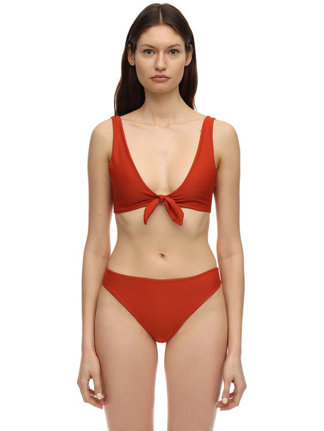 MIMÌ À LA MER Gilda Honeycomb Bikini in orange