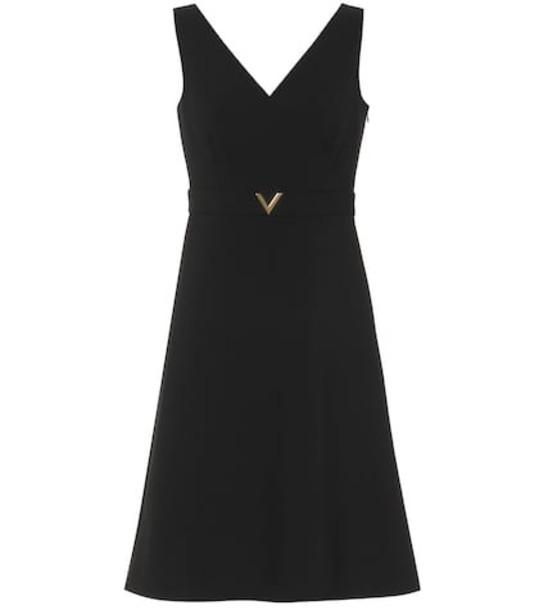 Valentino Stretch wool minidress in black