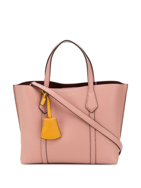 Tory Burch logo-debossed tote bag in pink