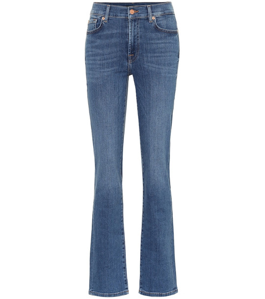 7 For All Mankind The Straight high-rise jeans in blue