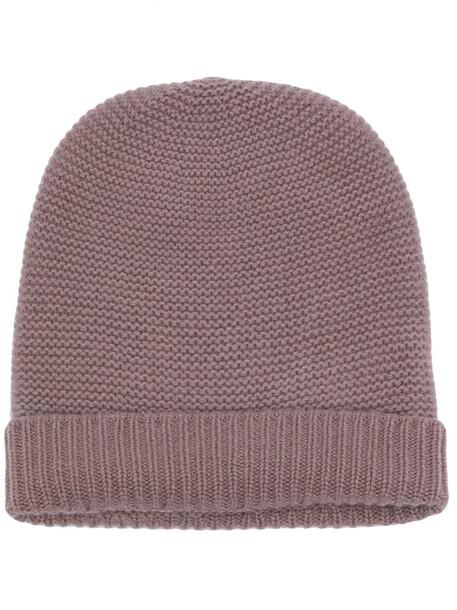 N.Peal purl-knit organic-cashmere beanie - Brown